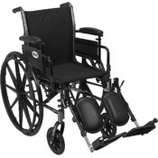 Wheelchair with Flip Back Removable Adjustable Desk Arms and Elevating Leg Rest Wholesale Bulk