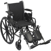 Wheelchair with Flip Back Removable Desk Arms and Elevating Leg Rest Wholesale Bulk