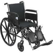 Wheelchair with Flip Back Removable Full Arms and Elevating Leg Rest Wholesale Bulk