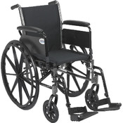 Wheelchair with Flip Back Removable Full Arms and Swing Away Footrest Wholesale Bulk