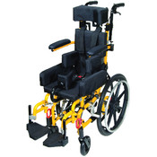 Wenzelite Rehab Yellow Kanga TS Pediatric Tilt In Space Wheelchair. Size: 10'. Wholesale Bulk