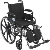 Viper Wheelchair with Flip Back Removable Adjustable Desk Arms and Elevating Leg Rest Wholesale Bulk