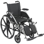 Viper Wheelchair with Flip Back Removable Desk Arms and Elevating Leg Rest Wholesale Bulk