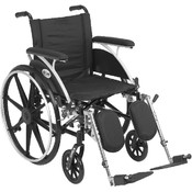 Viper Wheelchair with Flip Back Removable Full Arms and Elevating Leg Rest Wholesale Bulk