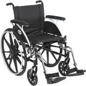 Viper Wheelchair with Flip Back Removable Full Arms and Swing Away Footrest Wholesale Bulk