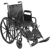 Silver Sport 2 Wheelchair with Detachable Desk Arms and Elevating Leg Rest Wholesale Bulk