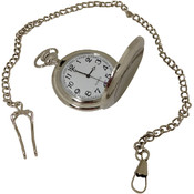 Pocket Watch with Chain- Silver Wholesale Bulk