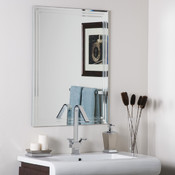 Frameless Bathroom and Wall Mirror Unique Accents