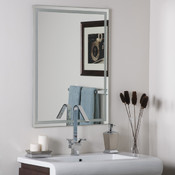 Frameless Etched Bathroom and Wall Mirror