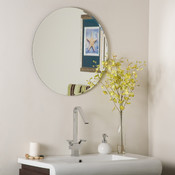 Frameless Round Bathroom and Wall Mirror