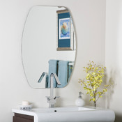 Frameless Oval Bathroom and Wall Mirror