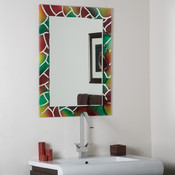 Frameless Mosaic Bathroom and Wall Mirror
