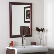 "Wood Framed Mirror 2""  Bathroom and Wall Mirror"