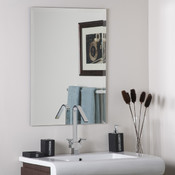 Frameless Rectangle Bathroom and Wall Mirror