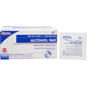Dukal Alcohol Pad, Medium, 2 ply, Non-Sterile, 1/pouch 200/bx 20bx/cs Wholesale Bulk