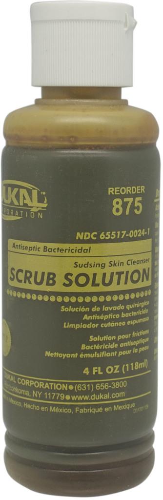 ''Dukal Povidone Iodine SCRUB Solution, 4 oz, Non-Sterile [1303822]''