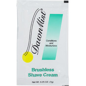Brushless Shave Cream, 0.25 oz. Packet