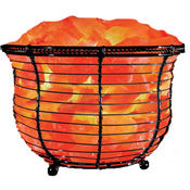Round Basket Himalayan Salt Lamp