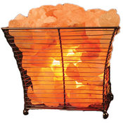 Square Basket Himalayan Salt Lamp
