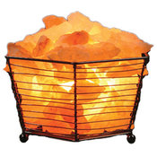 Octagon Basket Himalayan Salt Lamp