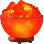 Hand Carved Himalayan Salt Lamp- Bowl