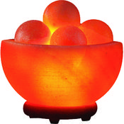 Hand Carved Himalayan Salt Lamp- Bowl w/Massage St