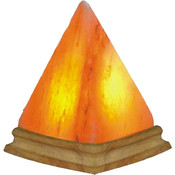 Hand Carved Himalayan Salt Lamp- Pyramid