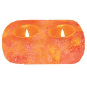 2 Hole Natural Himalayan Salt Candleholder