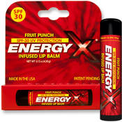 Energy-X Infused Fruit Punch SPF 30 Lip Balm