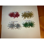 Gift Bows - 'FIREWORKS' - 2 pack 3.5' diameter Wholesale Bulk