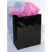 "Black Gift/Tote Bag - 6"" x 4.5"" x 2"""