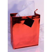 "Red Metallic Gift/Tote Bag - 6.5"" x 4.5"" x 2"""