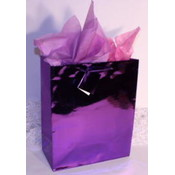 "Purple Metallic Gift/Tote Bag - 6.5"" x 4.5"" x 2"""