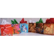 Xmas Gift Bags Assorted Designs - 5.75' x 4.25' x 2.25' Wholesale Bulk