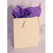 "French Vanilla / Ivory Gift/Tote Bag - 6.5"" x 6.5"" x 3.5"""