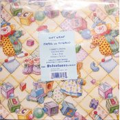 Baby Design - Flat Gift Wrap - 2 Sheet Pack - 20' x 30' Wholesale Bulk