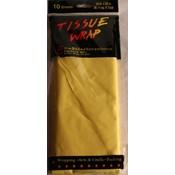 Yellow Tissue Paper - 10 Sheet pack. Wholesale Bulk