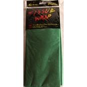 Festive Green/Dark Green Tissue Paper - 10 Sheet pack. Wholesale Bulk