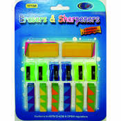 Eraser & Sharpener Combo pack - 14 count Wholesale Bulk