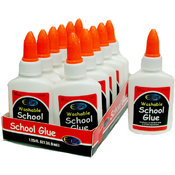 School Glue Bulk - White - 1.25 oz. Squeeze Bottle