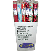 "Christmas Gift Wrap rolls - 30"" x 75 sq ft/roll"