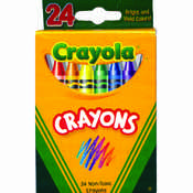 Crayons 24 count boxed - Crayola Wholesale Bulk