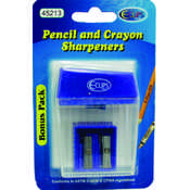 Pencil/Crayon Sharpeners - 2 Pack- Asst.Colors Wholesale Bulk