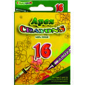 Crayons - 16 Count Boxed - Asst.Colors Wholesale Bulk