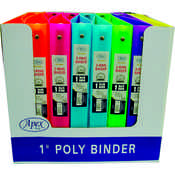 "Flexible Poly Binders - 1"" Neon Colors"