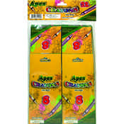 Apex Crayons 8ct- 4pk - boxed - 32 total crayons Wholesale Bulk