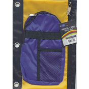 Pencil Pouch - double Zipper - Two Pocket - 1 pack