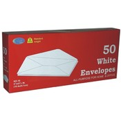 White Envelopes - 50 count - # 10