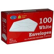 White Envelopes - 100 count - # 6