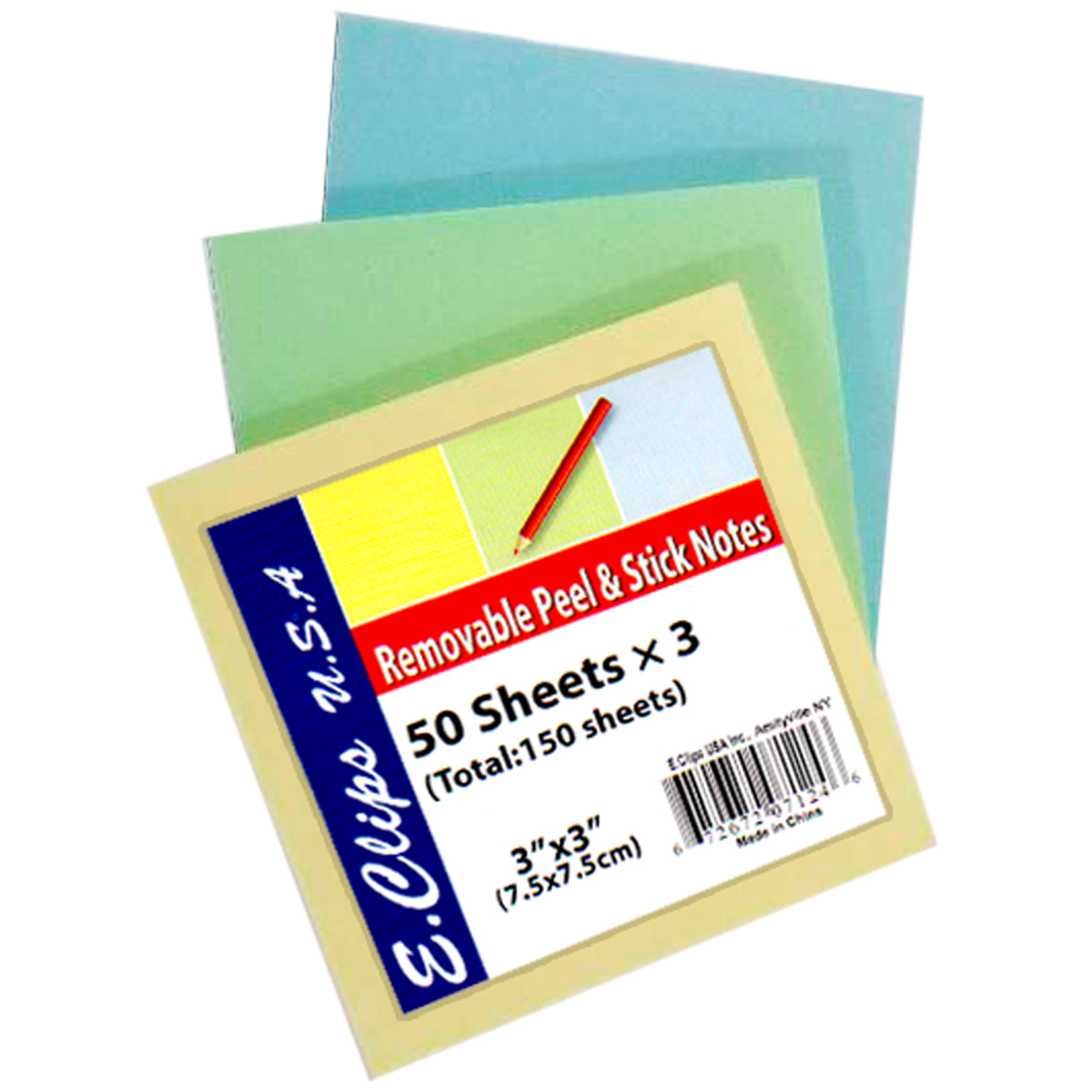 Sticky NOTE Pads - Rainbow 3/pack [1283460]